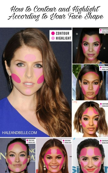 How to Contour and Highlight According to Your Face Shape