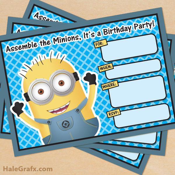 Free Printable Deable Me Minion Birthday Invitation