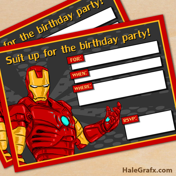 free printable avengers iron man