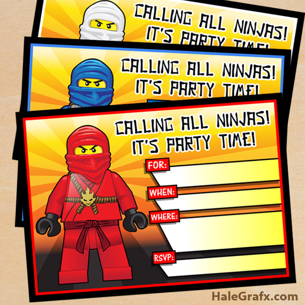 free printable lego ninjago birthday