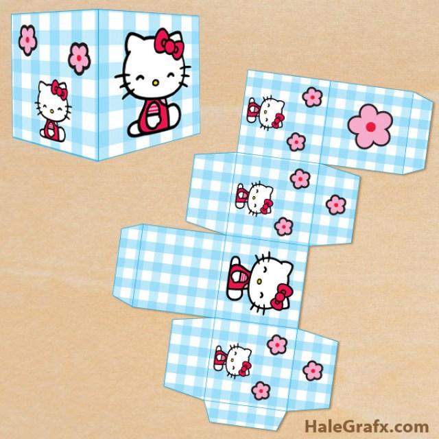 free hello kitty party printables treat box