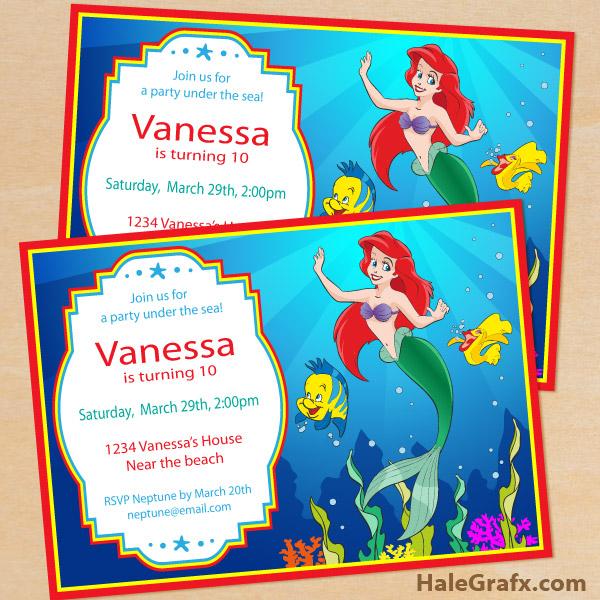 free printable disney little mermaid