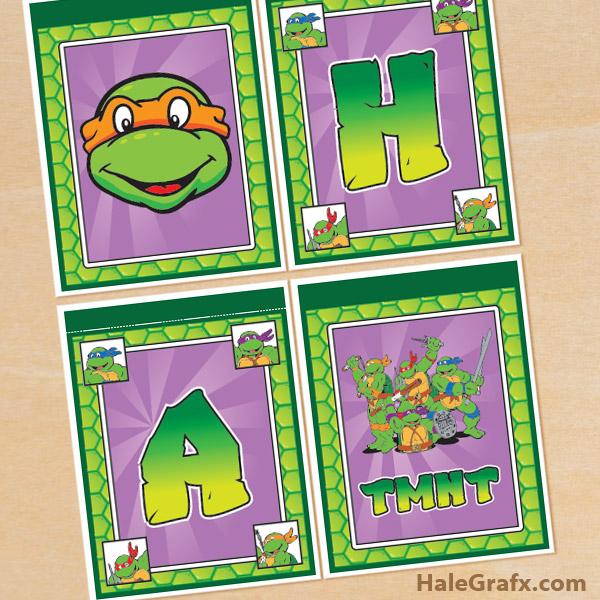 free printable retro tmnt ninja turtle