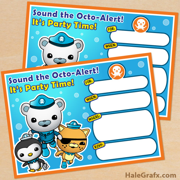 free printable octonauts birthday