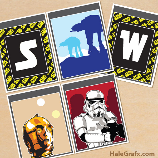 Free Printable Star Wars Alphabet Banner Pack