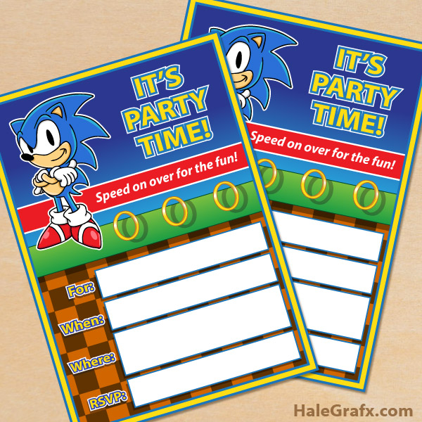 free printable sonic the hedgehog party