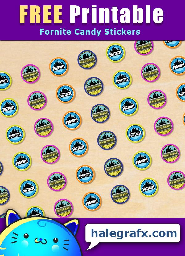 Free Printable Fortnite Hershey S Kisses Stickers