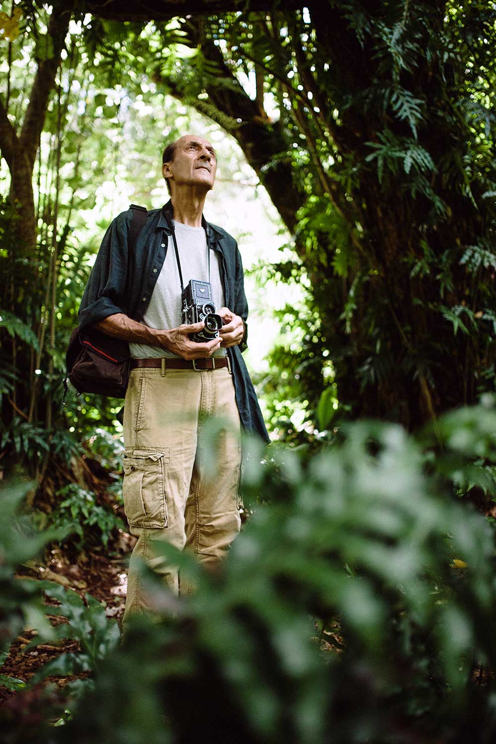 Photographer Franco Salmoiraghi in the forrest