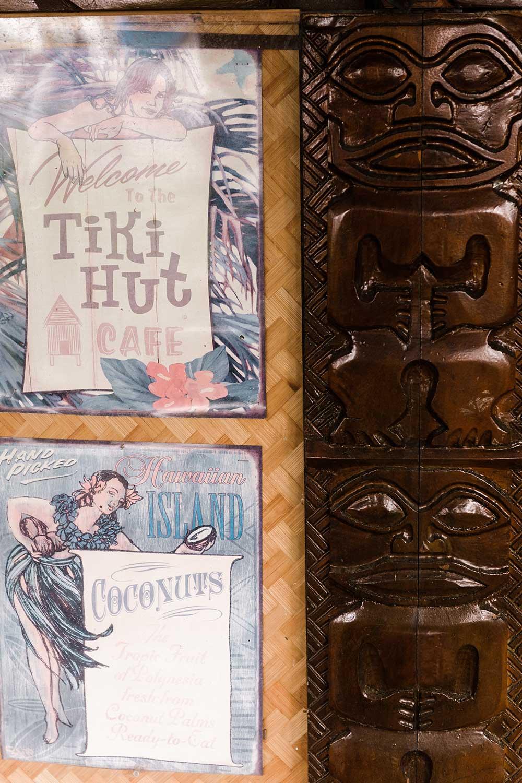 Vintage Tiki Hut Signage