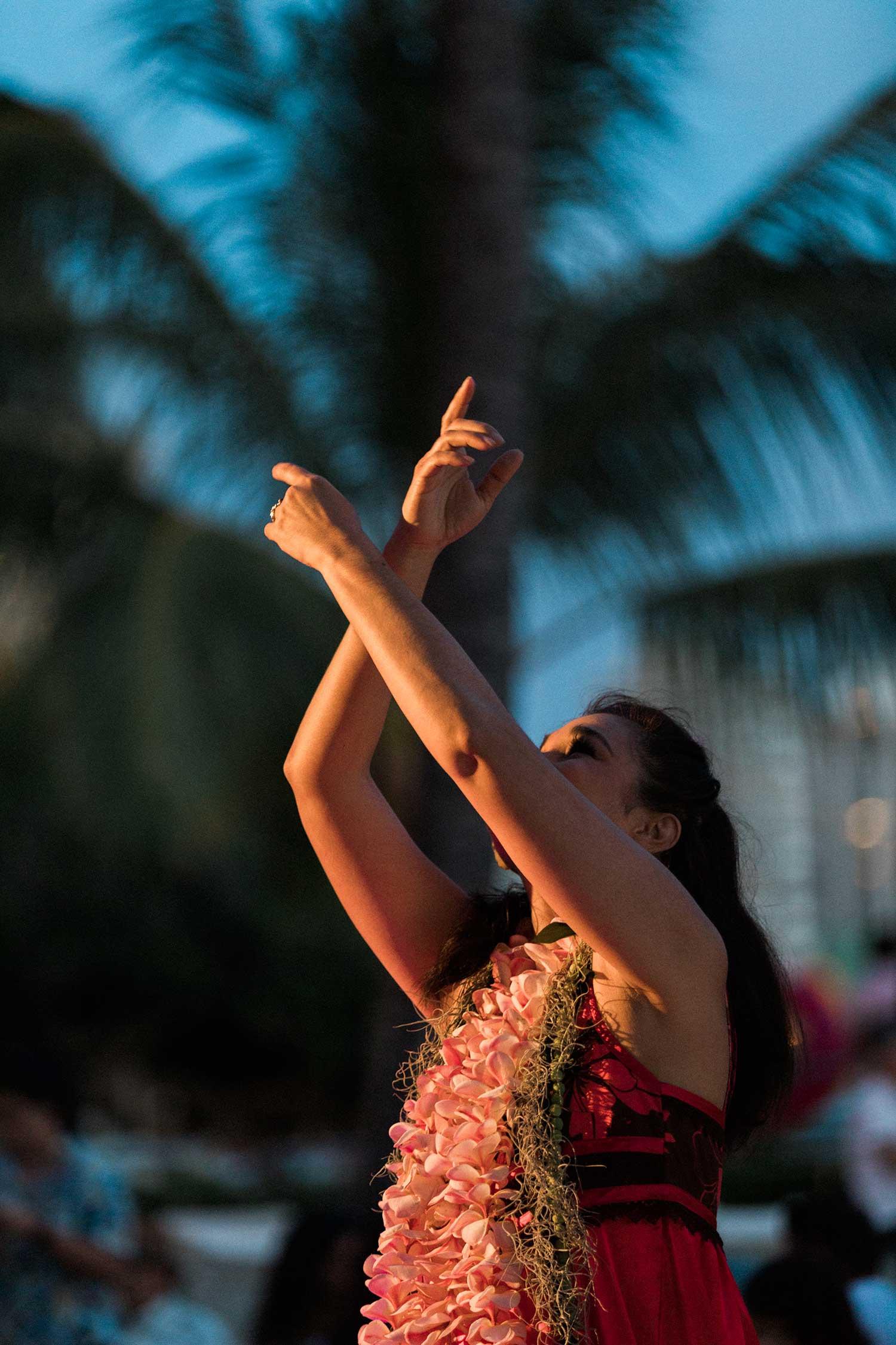 Hula performer
