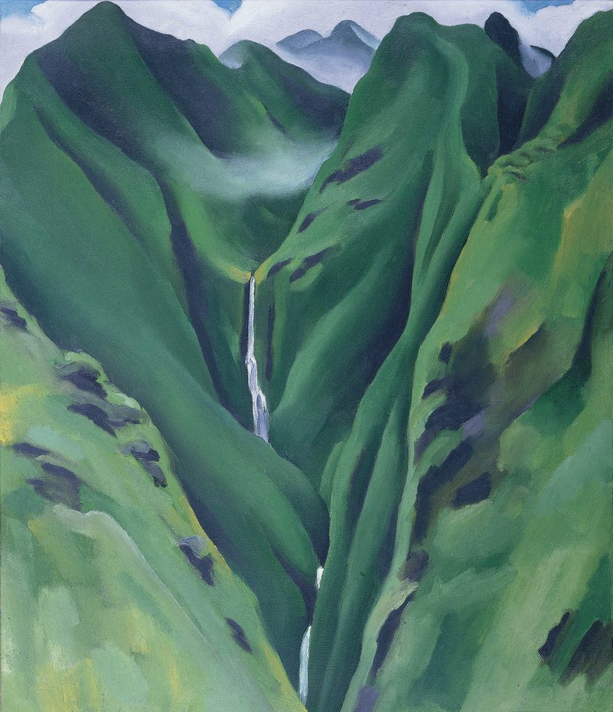 Georgia O'Keeffe. Waterfall, No. I, 'Īao Valley, Maui, 1939