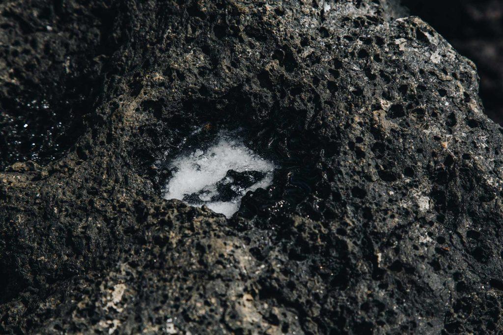 Salt in the rocks