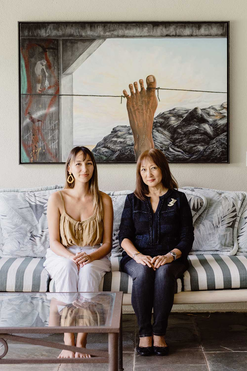 Kenna Reed (left) and Joyce Okano (right)