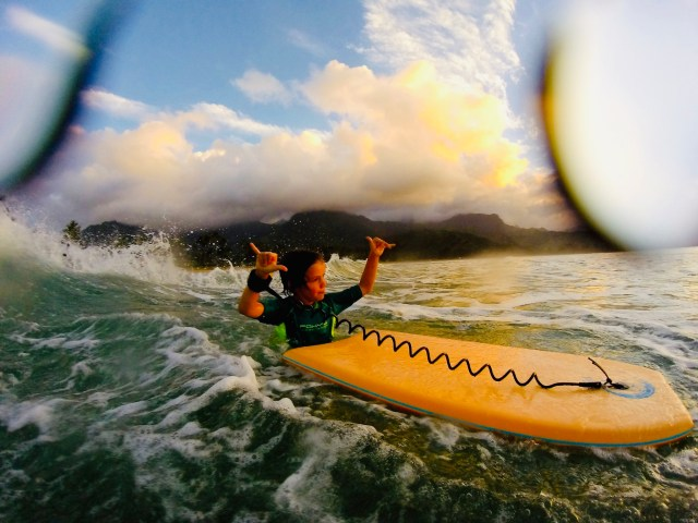 Hanging loose in Hanalei Bay.