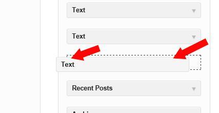 Sidebar - Drag text to sidebar