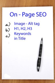 Blog Traffic - On Page SEO