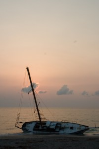 Beached Sailboat