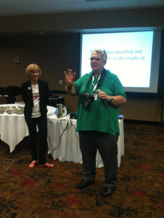 Dr. Hale at Ann Sieg's Regengade Action Workshop