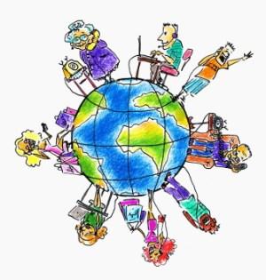 People Around World-COmputers