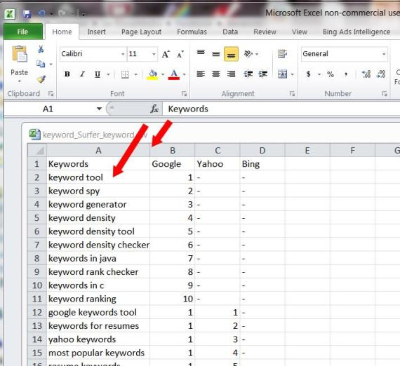 Excel-Open cvs list
