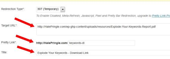 Pretty Link - Keywords Download