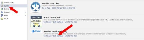 Change AWeber FB App Settings