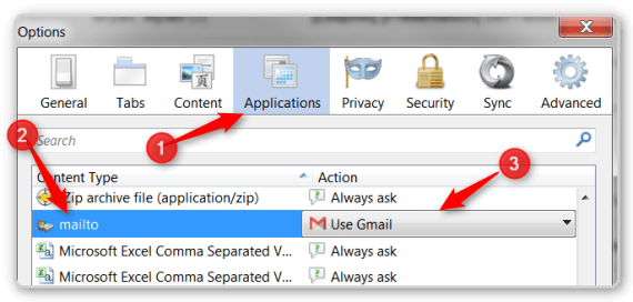 FireFox Tips - Change Default Email Provider