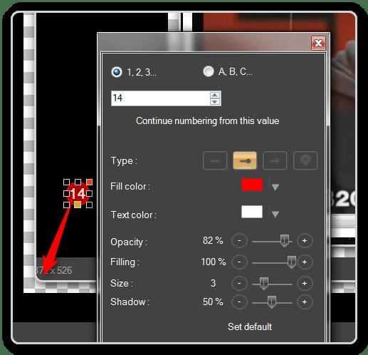 Saving Time - ScreenPresso Modify text or arrows