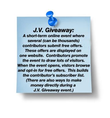 JV GIveaway Sticky Note plus tack-13559398_m copy