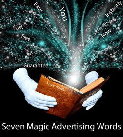Seven Magic Advertising Words In Magic Book