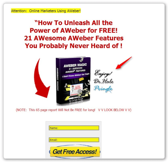 Brand Building Strategy - Squeeze Page with Author's Name