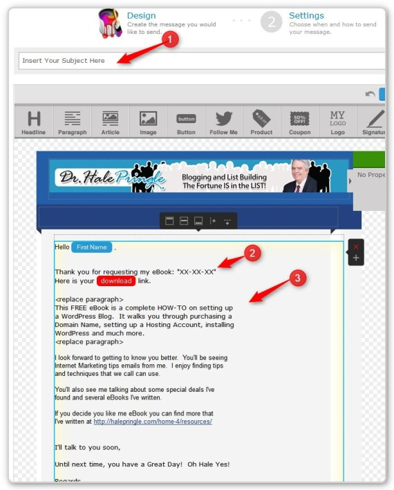 List Building With LeadPages - - Welcome and Download EMail