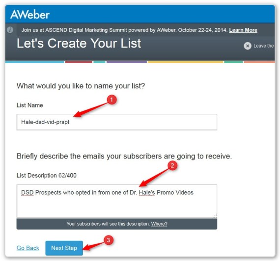 List Building Using LeadPages - Finish Creating a new List