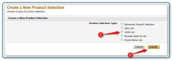 Promotion Code -Select the Type of Selection Set
