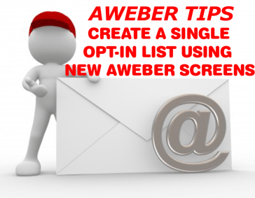 Creating a Single Opt-In List in AWeber