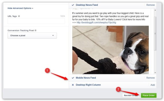 Facebook Custom Audience Create Ad