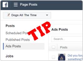 Facebook Page Posts Tip