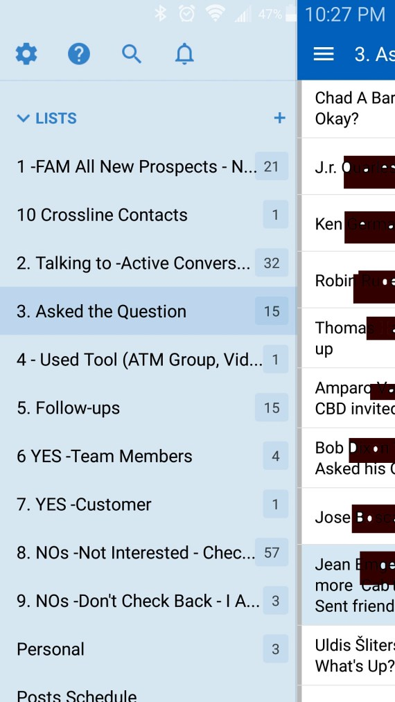Network Marketing CRM - Android Screen Shot