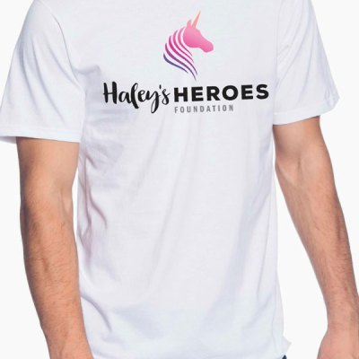 Haley's Heroes T-Shirt in white