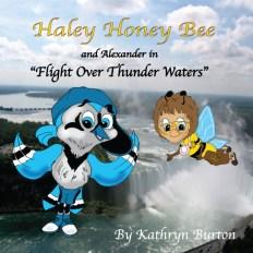 Haley Honey Bee in Flight Over Thunder Waters
