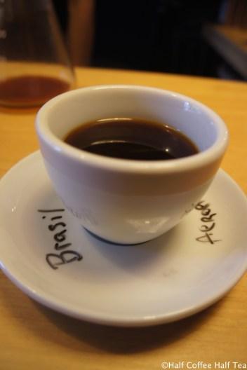 AeroPress brewed Brazil coffee