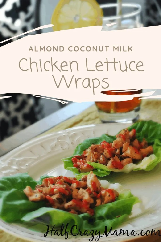 Almond Coconut Milk Chicken Lettuce Wraps | dairy free | healthy recipes | appetizers | lettuce cups | inspired | dinner | fitness motivation