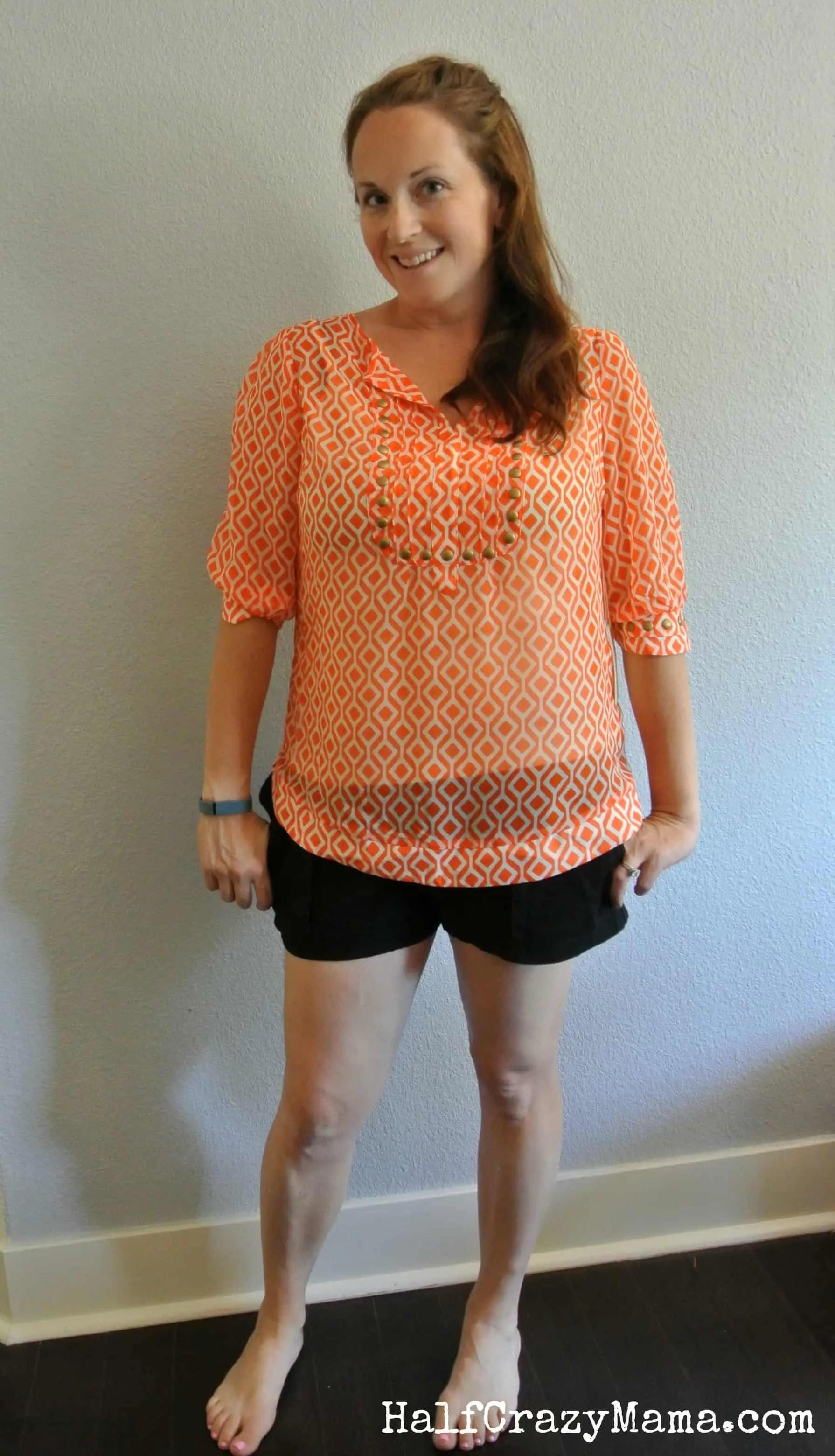Stitch Fix 3 orange blouse