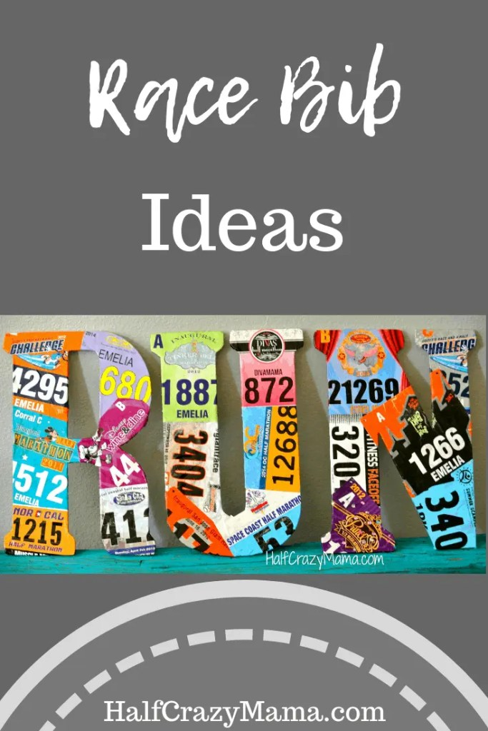 DIY craft to do with your marathon race bibs to create a fun display. |marathon runners| race bib| race bib display| creative race bib|