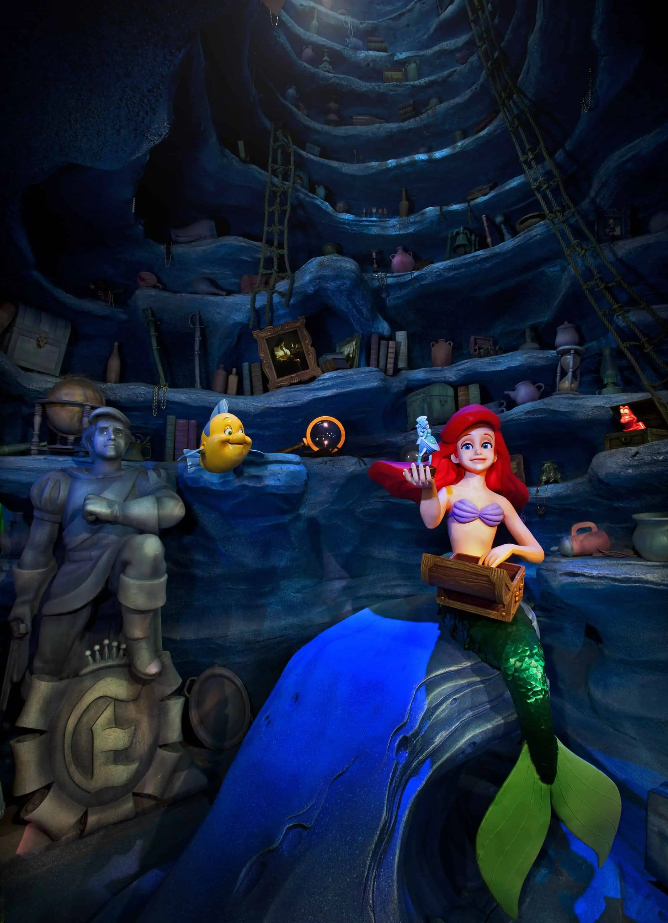 The Little Mermaid ~ ArielÕs Undersea Adventure, Ariel's underwater Grotto scene.