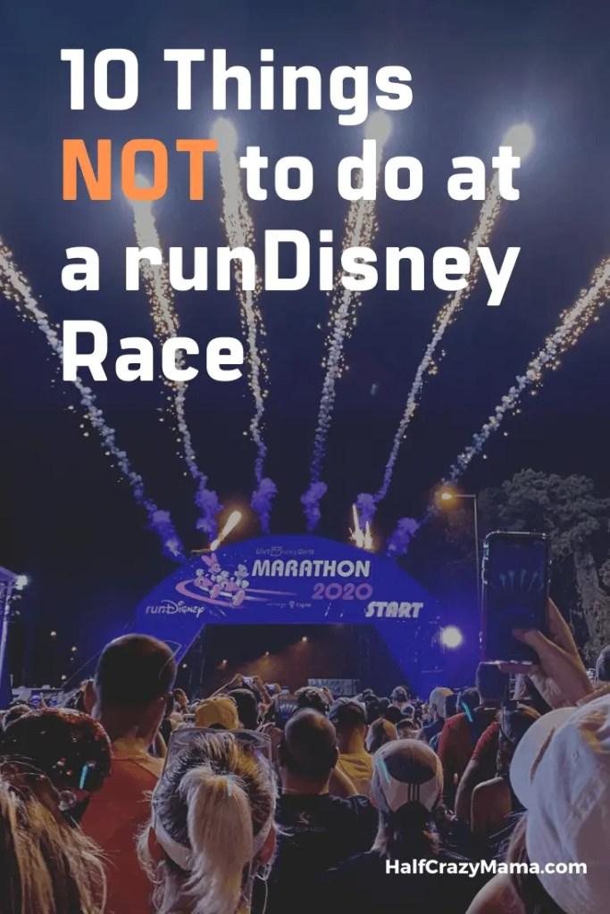 not to do at runDisney