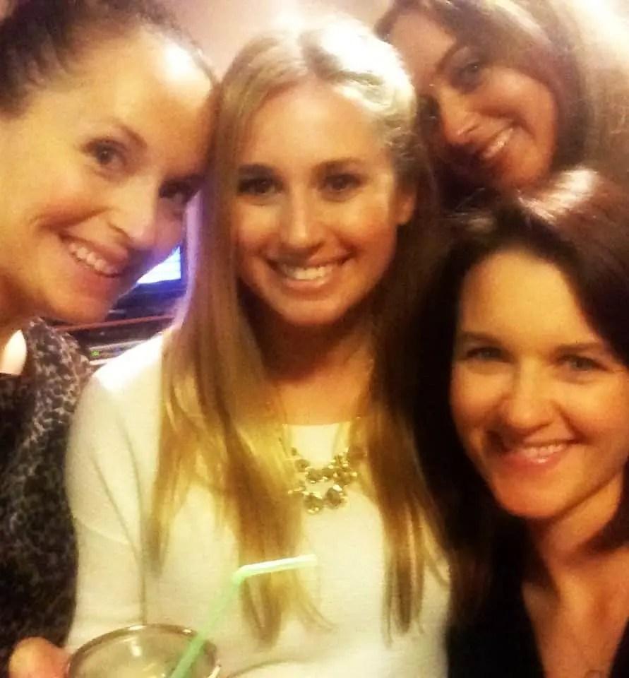 Girls Night Pizza Party Selfie