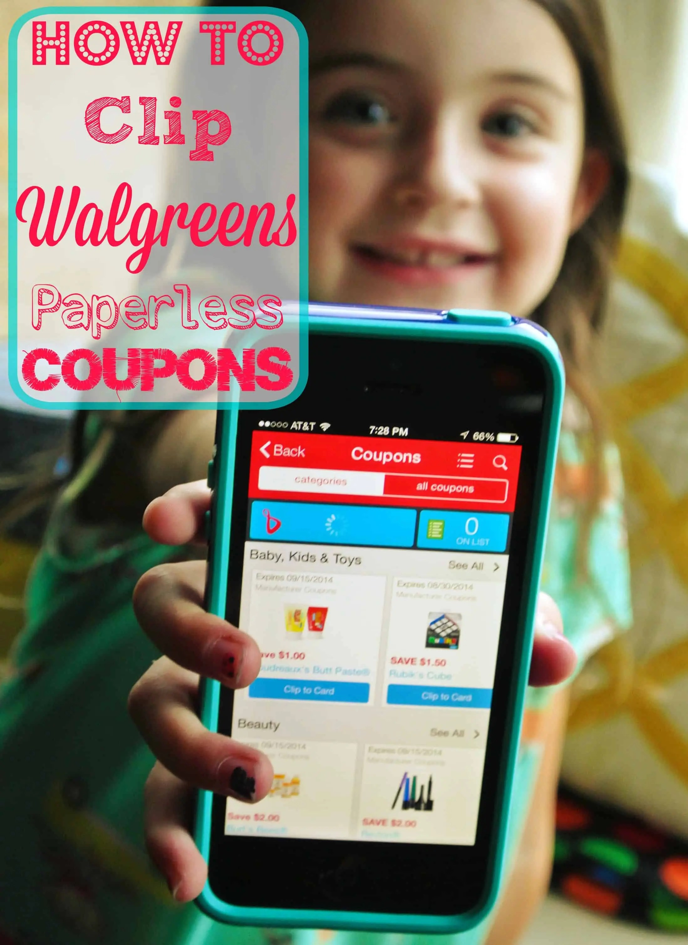 How to clip walgreens paperless coupons