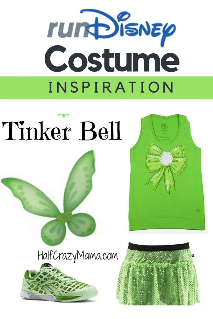 Disney Tinker Bell Running Costume Inspiration. | runDisney | running costume | Disney world Races | marathon training #runDisney
