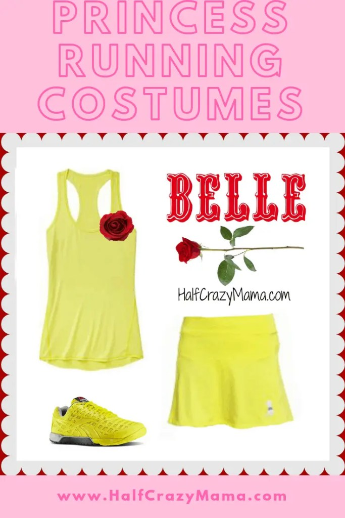 Princess Half Marathon Costume Ideas. | runDisney | Belle Costume | runners | Disney World Race | DIY runners